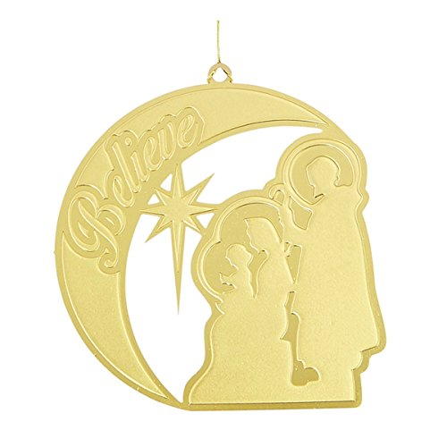 Brass Christmas Ornaments Weihnachtsdekoration, Messing, 24 Stück, 5,1 cm Glaube, Dreifaltigkeit (Believe Nativity) Messing - Christmas Schule Ornament