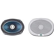 "Bazooka EL690, 6x9"" (15.2 x 22.9cm) 3-Way Triax Speakers, Elevated Series, 150W RMS, 300W MAX"