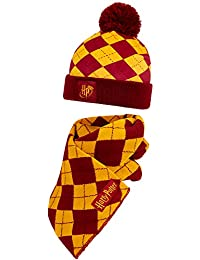Harry Potter Scarf and Hat Set For Kids, Official Gryffindor Accessories