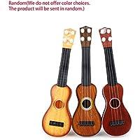 Laurelmartina 14.5 Pulgadas Ukelele Principiante Hawaii 4 Cuerdas Cuerdas de Nylon Guitarra Musical Ukelele para Niños