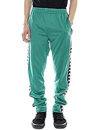 Kappa - Pantalones - 222 Banda Astoria Slim - Verde Negro Blanco 03181799522a8