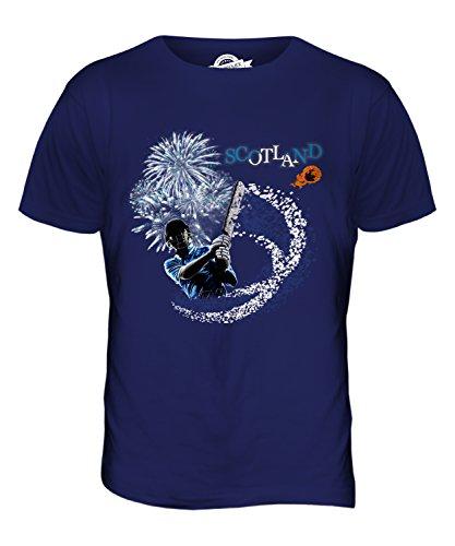 CandyMix Schottland Cricket Herren T Shirt Navy Blau