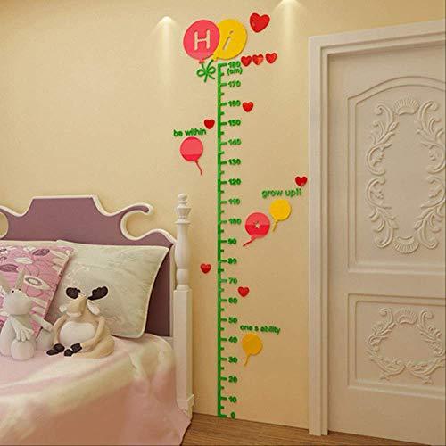 Volumen Höhe Wandaufkleber, Kindergarten Raum Zeichnung Aufkleber, Wand Acryl Messung Schlafzimmer Höhe Aufkleber 225 dunkelgrün rosa