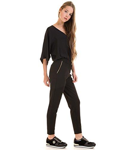Pantalon Vila Viclass Piping nero Black