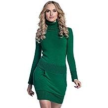 reputable site 60031 52464 Amazon.it: abito maglia verde - Nero