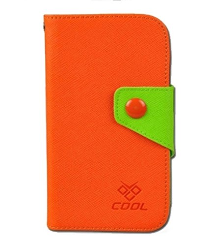 Apple iPhone 8 Rainbow Case Hülle PU Leder Abdeckung (Orange) - 1 x Gratis klarer Bildschirmschutz Orange