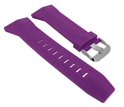 Bruno Banani BR21053 Ersatzband Uhrenarmband Kunststoff Band violett für Prisma CW3 246 446