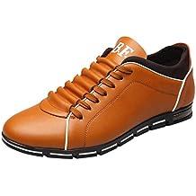 Chaussures Habillées en Cuir Plates À La Mode en Cuir Solide pour Hommes 9f1f4eab560e