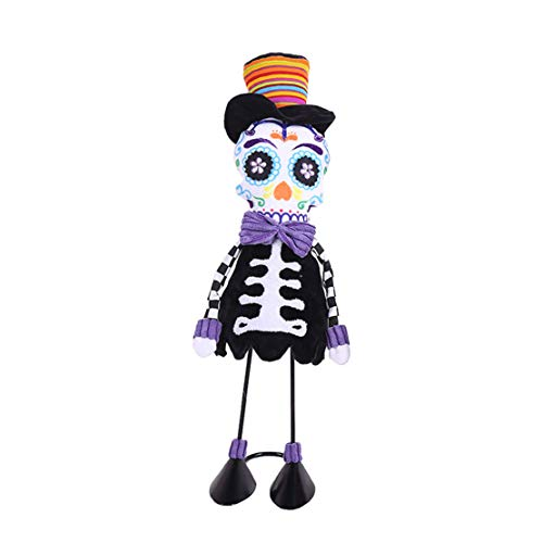 (happy event Halloween Tanz Swinging Animated Bobble Tänzer Spielzeug Kostüm Dekor Ornament Requisiten | Skeleton Skull Toy (B))