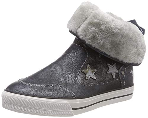 Mustang Damen Booty Hohe Sneaker, Blau (Navy 820), 38 EU