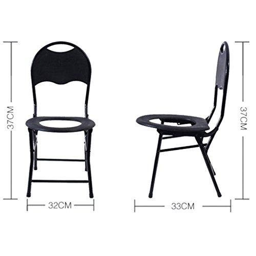 Toilet Seat piegatura dell'acciaio inossidabile antiscivolo donne incinte anziani spessa in acciaio Wc Moving , (Acciaio Inossidabile Benna)