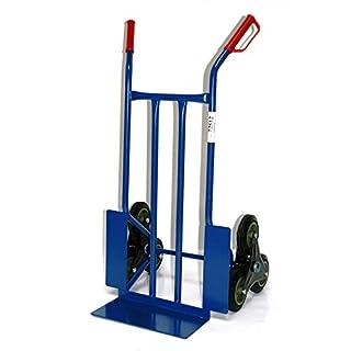 Treppen-Sackkarre, 250 KG blau, 108x53x55 cm (Transportkarre Stapelkarre Handkarre)