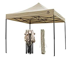 All Seasons Gazebos 3x3m Heavy Duty, Fully Waterproof Pop up Gazebo, Beige