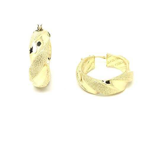 Orecchini a cerchio in oro giallo 18kt/750con