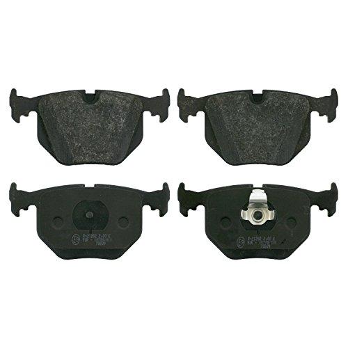 febi bilstein 16175 Bremsbelagsatz (hinten, 4 Bremsbeläge), für Verschleißwarnanzeiger vorbereitet