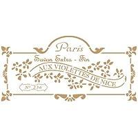 TODO-STENCIL Deco Vintage Composición 191 Savon Paris. Medidas aproximadas: Medida Exterior 20 x 30 cm Medida del diseño:12,6 x 26 cm