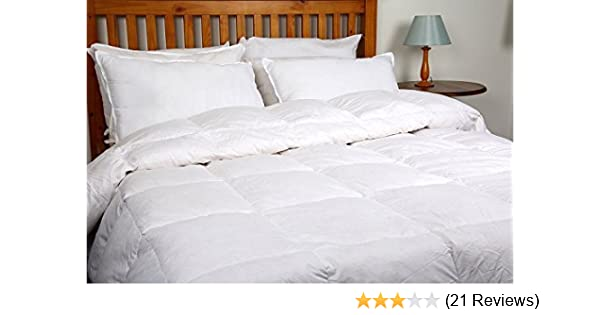 10.5 Tog Deluxe White Duck Feather and Down Duvet