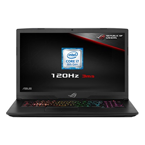 ASUS ROG Strix GL703GM-EE063T 17.3-Inch FHD 120 Hz with 3 ms Screen Gaming Laptop (Black) (Intel i7-8750H Processor, 8 GB RAM, 128 GB PCI-E SSD + 1 TB HDD, NVidia GTX 1060 6 GB, Windows 10)