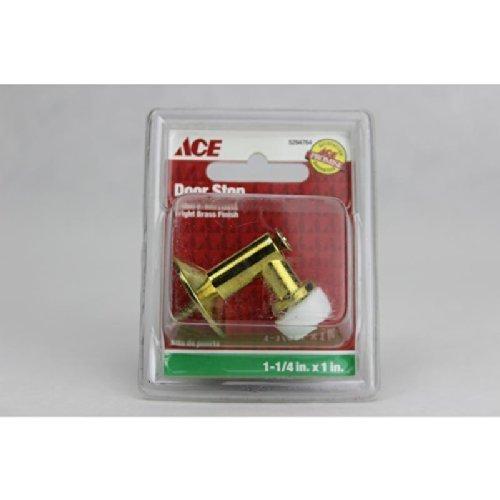1-1/4X 1 BRIGHT BRASS FLOOR MOUNT DOOR STOP ACE Door Stop 5294764 Brass by ACE -