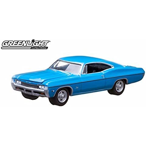 Greenlight 10th Anniversary Edition: 1968 Chevy Impala SS 1:64 Scale (Blue) by GreenLight