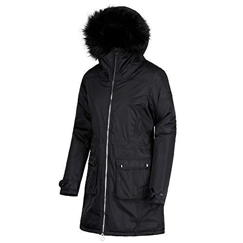 Regatta lucasta waterproof and breathable insulated, giacca donna, nero, taglia 26