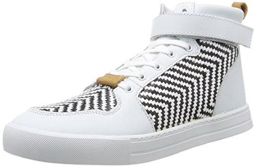 Eleven Paris  Sneaker Raf,  Sneaker uomo Bianco Blanc (Black&White) 43