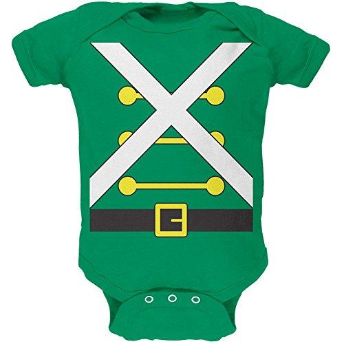 Weihnachten Spielzeug Soldat Kostüm weiches Baby Einteiler Kelly Grün 18-24 (Kostüme Mädchen Soldat)