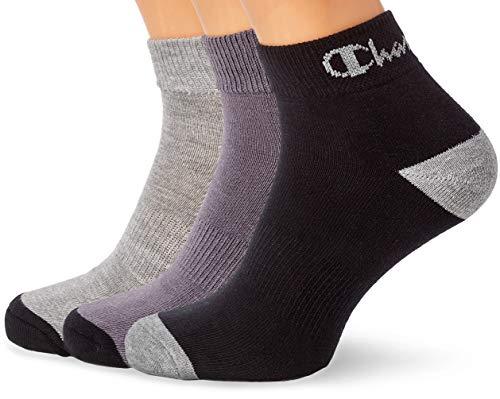 Champion Performance Ankle, Chaussettes de Sport Homme, Multicolore (Noir/Gris Foncé/Gris Clair 8m0), 43/46 (Taille Fabricant: 43/46) (lot de 3) -