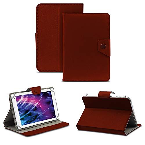 NAUC Tablet Hülle für Medion Lifetab P8514 P8314 P8312 P8311 Tasche Schutzhülle Case Cover, Farben:Braun