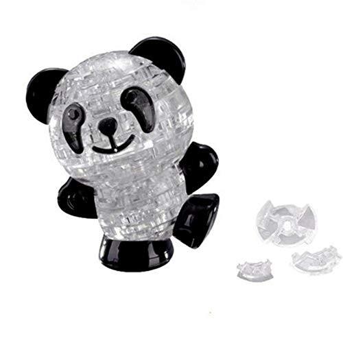 Schwarze Kinder-schreibtisch (ZYCX123 3D Kristallpuzzle DIY Panda Modell Blöcke DIY Gadget Blocks Gebäude Büro-Schreibtisch-Spielzeug-Geschenk für Kinder Kinder Schwarz Weiß 53pcs)