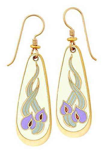 laurel-burch-ivory-and-pastel-colored-wild-anthuriums-cloisonn-drop-earrings-with-sandstone-finish-i