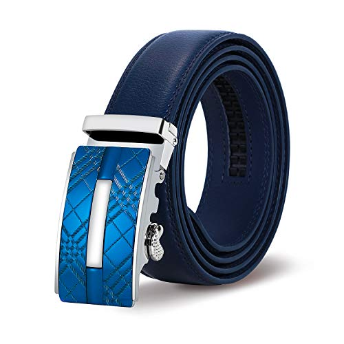 Itiezy cintura uomo cintura automatica pelle 35mm cintura a cricchetto elegante moda cintura con confezione regalo