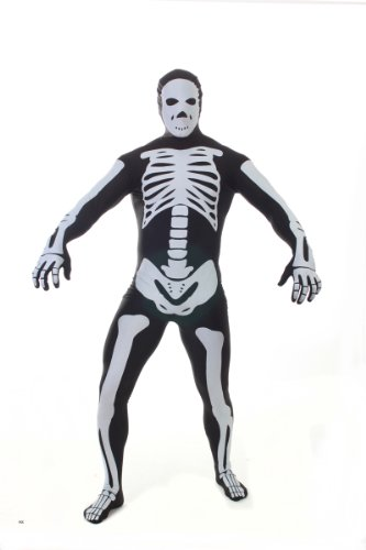 Morphsuits MPSBL - Costume per travestimento da scheletro, colore: Nero