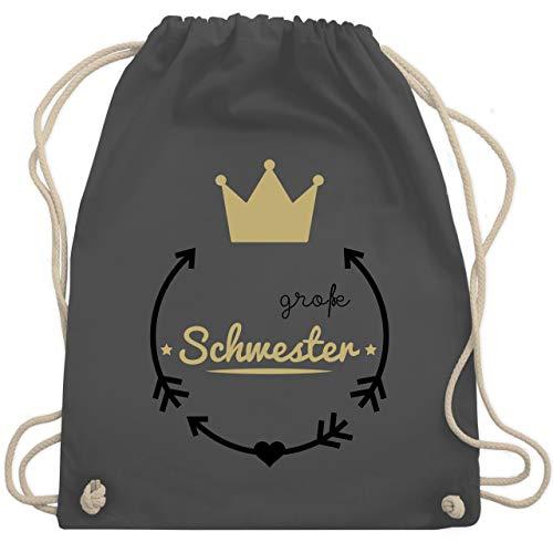 d - Große Schwester - Krone - Unisize - Dunkelgrau - WM110 - Turnbeutel & Gym Bag ()