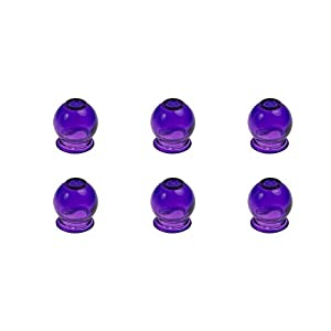 6 X Farbige Schrpfglser Aus Glas Fr Feuerschrpfen Vakuum Massage Farbe Lila