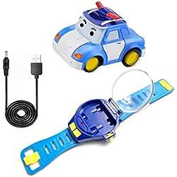 RC Mini Cartoon voiture Gravity Sensing télécommande voiture jouet avec rechargeable Montre Enfants Jouet pour Garçons Filles
