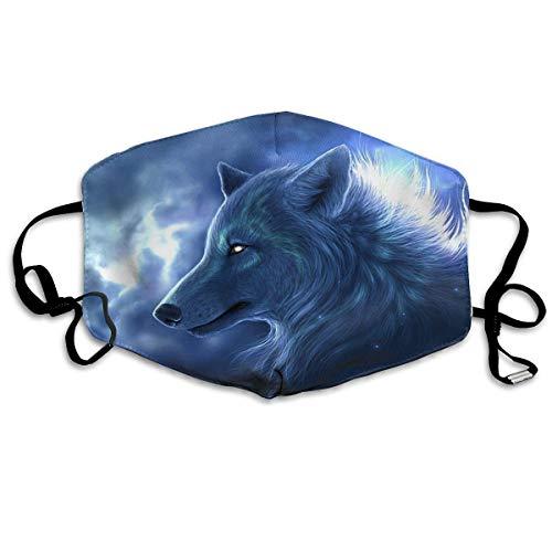 Vbnbvn Unisex Mundmaske,Wiederverwendbar Anti Staub Schutzhülle,Dustproof Face Mouth Cover Mask - Safety Reirator Cool Wolf Print Earloop Maske für Mann Frau
