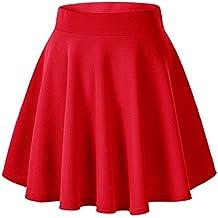 Gaatpot Falda Mujer Alto Cintura Corto Elástica Plisada Básica Falda Tutu  Multifuncional Patinador Minifalda 1dabe5115840