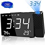 Best Projection Clocks - HQQNUO Projection Alarm Clock Digital Alarm Clock 20 Review