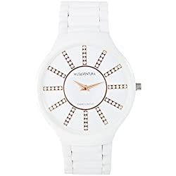 MUSAVENTURA Quartz Watch Display and Ceramic Strap REF 173_BLANCO-UNICA