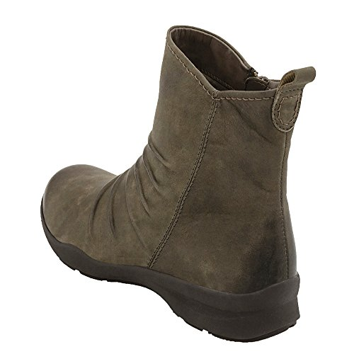 Earth Treasure Femmes Cuir Bottine Stone