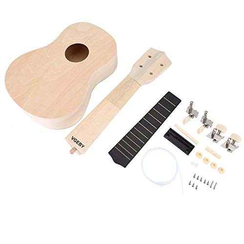21 pollici Ukulele Kit fai da te Kit fessura per ponte del corpo del Lindenwood Il tuo artigianato ukulele per apprendere il regalo dei bambini
