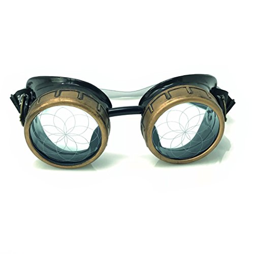 9efaed9cf4400 umbrellalaboratory Steampunk Goggles with neon Blue Lens Laser Cut Out  Eternal Design