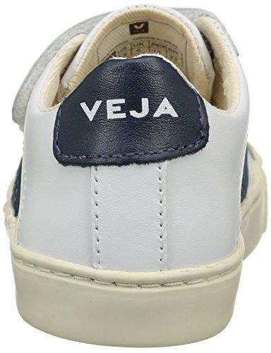 VEJA Esplar Velcro, Baskets Basses Mixte Enfant Blanc (Extra White/Nautico Pierre)