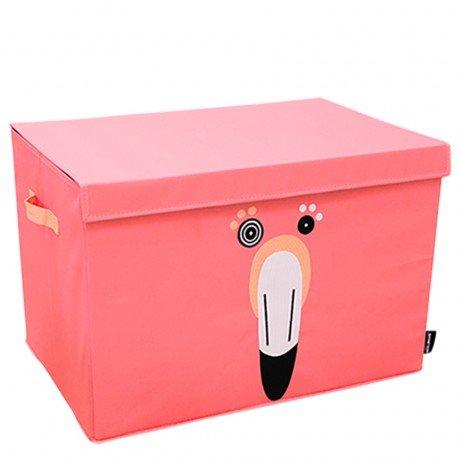 Les Deglingos baúl de almacenaje Flamingos el flamenco