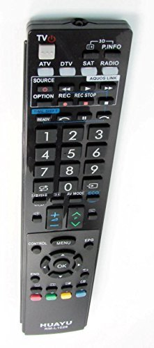 Telecomando TV/controllo remoto per SHARP AQUOS LED/LCD/PLASMA, RM-L1026 = = GA841WJSA GA983WJSA, GA902WJSA GA857WJSA = (Sharp Aquos)