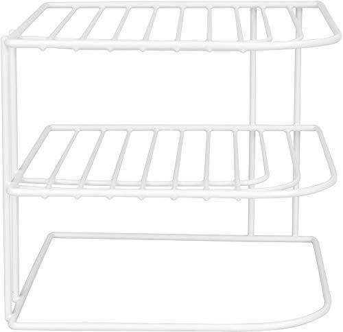 SUNBEAM Kitchen Corner Counter and Cabinet Heavy Duty Wire Shelf in White