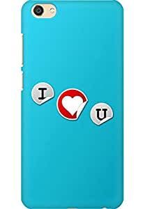 AMEZ designer printed 3d premium high quality back case cover printed hard case cover for Vivo X7 (I Love You In Blue)