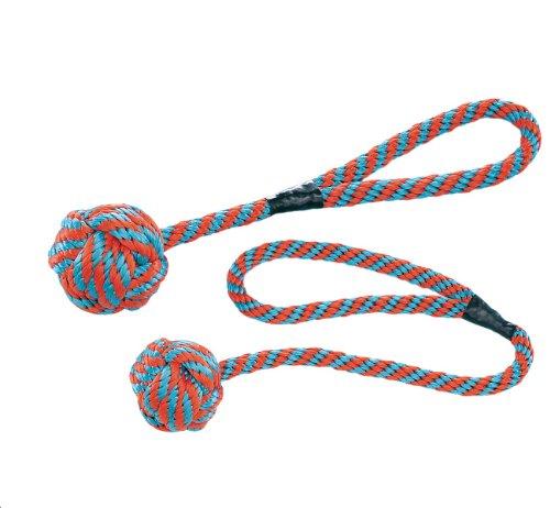 "Nobby 79337 Hunde-Schwimm-Spielzeug \""Floating\"" Ø 8,5 cm, L 40 cm, orange-blau"