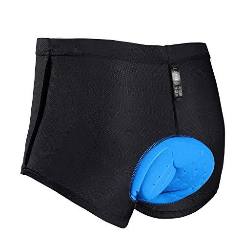 JXJFOZ Radunterhose Herren Gel, Fahrradhose Gepolstert Funktionsunterwäsche Atmungsaktiv 3D Unterhose für Radfahren Reiten Tour (M)